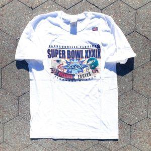 NFL Shirts - Vintage Patriots vs Eagles Super Bowl 05' XXIX Tee